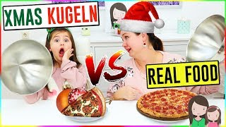 REAL FOOD vs. XMAS Kugeln 😂 Alles Ava