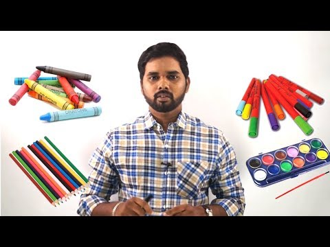 Art & Drawing Class Day -1 | Introduction | Easy and Step by Step drawing for kids in Tamil