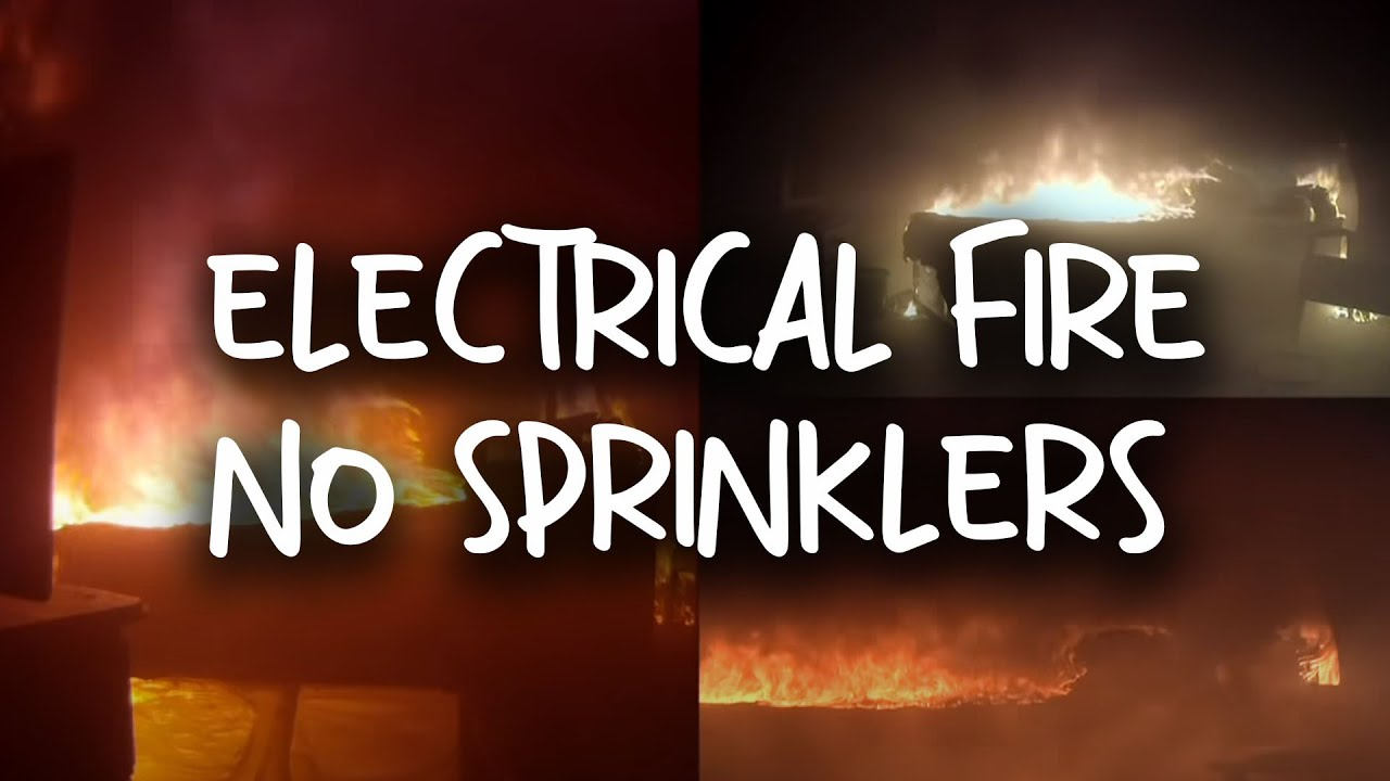 Bedroom Electrical Fire No Sprinklers Fitted Youtube
