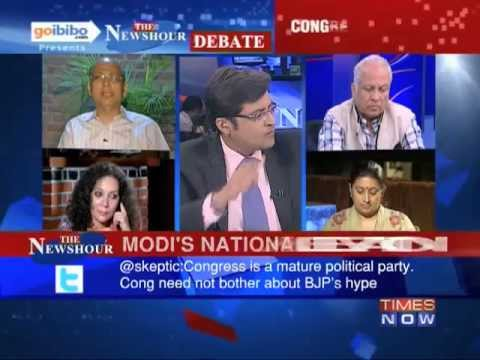 The Newshour Debate: Will it be Narendra Modi V/S Rahul Gandhi in 2014? (Part 1 of 3)