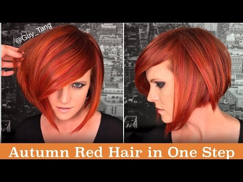 Autumn Red Hair in One Step