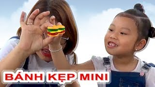 Ăn Bánh Kẹp Rau Kẹp Thịt -- Hamburger Mini ❤ Susi kids TV ❤