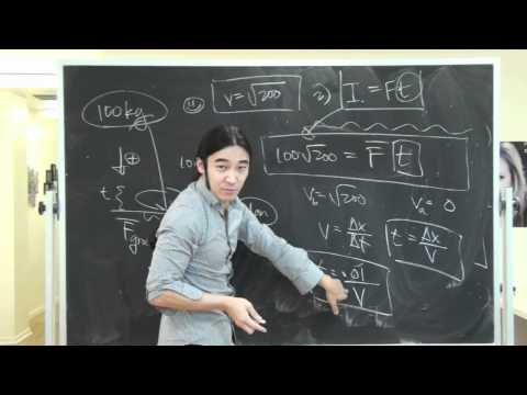 Impulse Problem Physics (Phys 135A and Phy 6A)