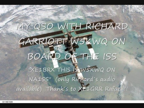 ISS QSO with Richard Garriott on NA1SS