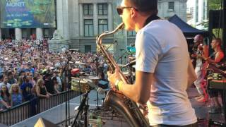 Sax Solo At 2017 Vancouver International Jazz Festival With Five Alarm Funk