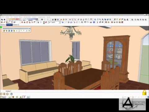 como hacer un sencillo render interior en sketchup