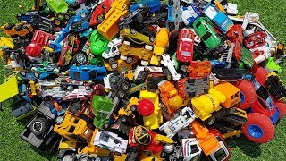 Building Blocks Toys For Children | Excavator Dump Truck Build Parking For Many Small Cars