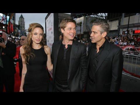 George Clooney reacts to Brangelina split