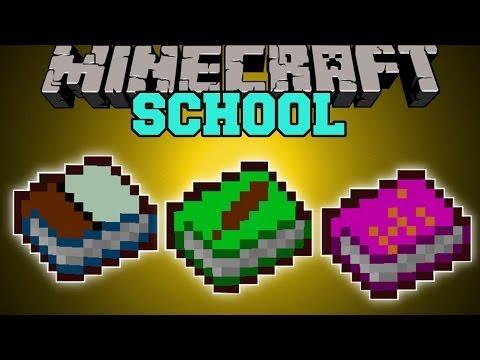 Minecraft: SCHOOL MOD (BOOKS WITH POWERS!) Mod Showcase