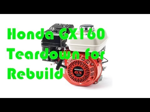 Honda GX160 DIY Rebuild teardown