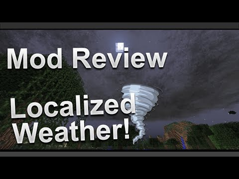 Minecraft Mod - Localized Weather - Storms. Tornadoes & Volcanoes!