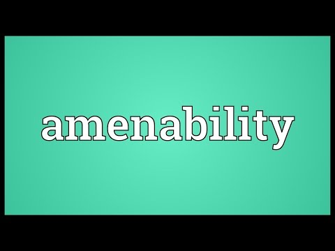 Header of Amenability