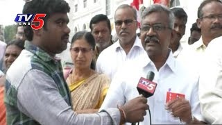 Left Parties And Railway Labor Unions Protest In Vijayawada