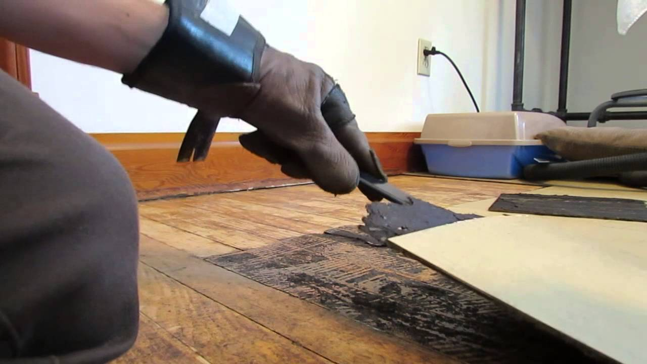 How to remove old tile adhesive from floor