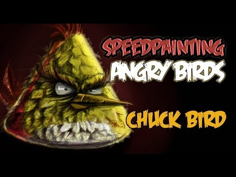 Angry birds Speedpainting Chuck bird real version (yellow bird)!!