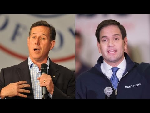 Rick Santorum quits, endures Marco Rubio