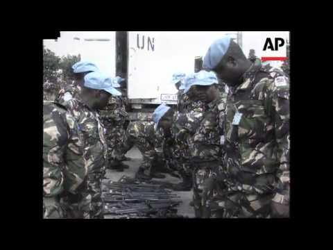 Croatia - Kenyan Peacekeepers Arrive