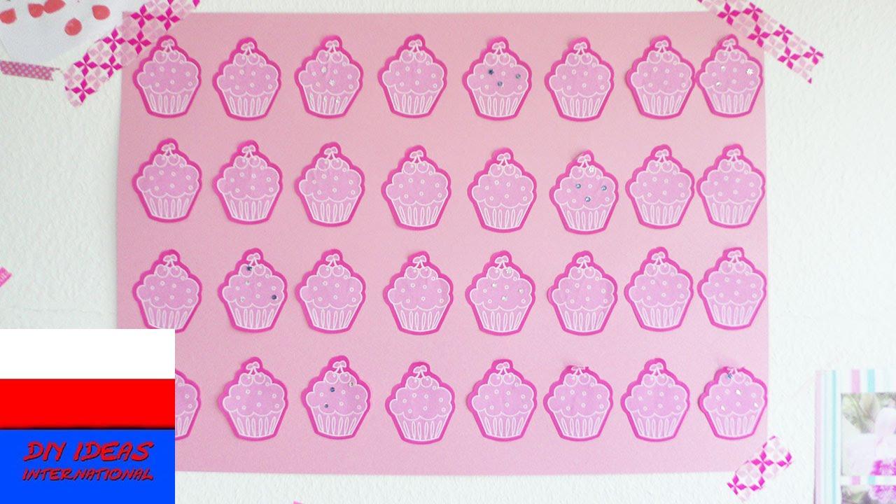 Plakat z muffinkami | Cup Cake Poster | dekoracja do pokoju dziecięcego