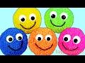 Learn Colors Play Foam Surprise Eggs Play Doh Peppa Pig Cutter Clay Slime Surprises Nursery Rhymes