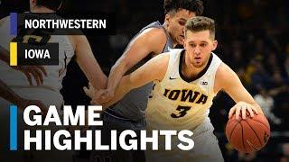 Highlights: Northwestern at Iowa | Big Ten Basketball