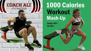 Intense 1000 calories Full Body Weight Plate Workout At Home
