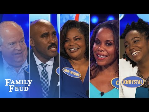 2016's Top 5 Steve Harvey Funny Moments | Family Feud