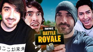GERMAN Y BERSGAMER SALVAN A FERNANFLOO Y TOWNGAMEPLAY ! LA BANDA EN FORTNITE : BATTLE ROYALE