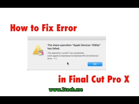 "How to fix an error ""The share operation apple devices 1080p File has Failed"""