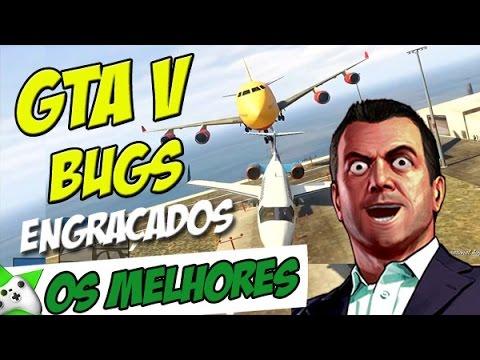 OS BUGS MAIS ENGRAÇADOS DO GTA V -