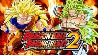 Dragon Ball Raging Blast 2 SSJ3 Goku Vs SSJ3 Broly Saiyan Legends