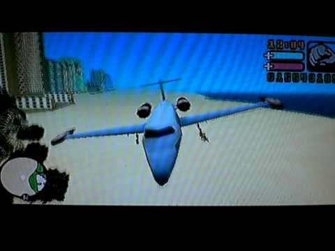 Grand Theft Auto Vice City Stories (GTA VCS. PSP) - Flyable Learjet (Cheatdevice)