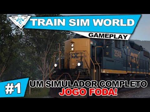 TRAIN SIM WORLD: CSX HEAVY HAUL #1 - SIMULADOR COMPLETO DE TREM, JOGO FODA! / 1080p PT-BR