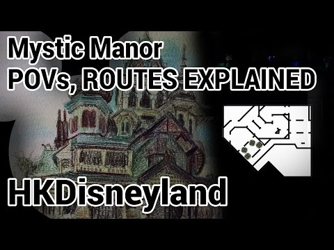 Mystic Manor POVs Hong Kong Disneyland with Routes Explained