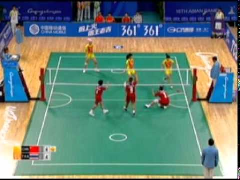 Sepak Takraw(Women's Team A+B) @2010 Asian Games - Thailand vs China (Gold Medal Match) 1/10