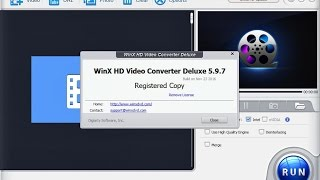 Install WinX HD Video Converter Deluxe 5.9.7 and 5.9.9 with Code Reg