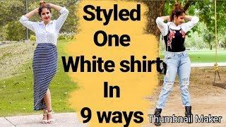 9 SUPER easy way to style a white shirt | PRIYA DEOL|