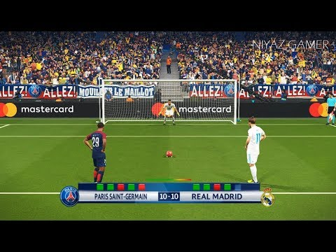 PSG vs REAL MADRID   UEFA Champions League - UCL   Penalty Shootout   PES 2018 Gameplay PC