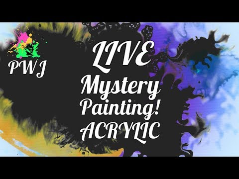 Recorded LIVE Mystery Painting - Step by Step Acrylic Painting Tutorial
