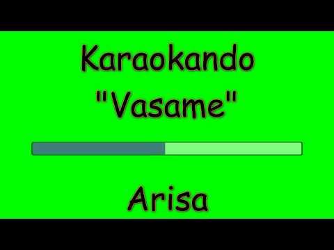 Karaoke Italiano - Vasame - Arisa ( Testo )