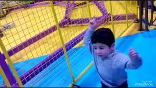 Baby Ryan playing in the playground with his family happy ruru