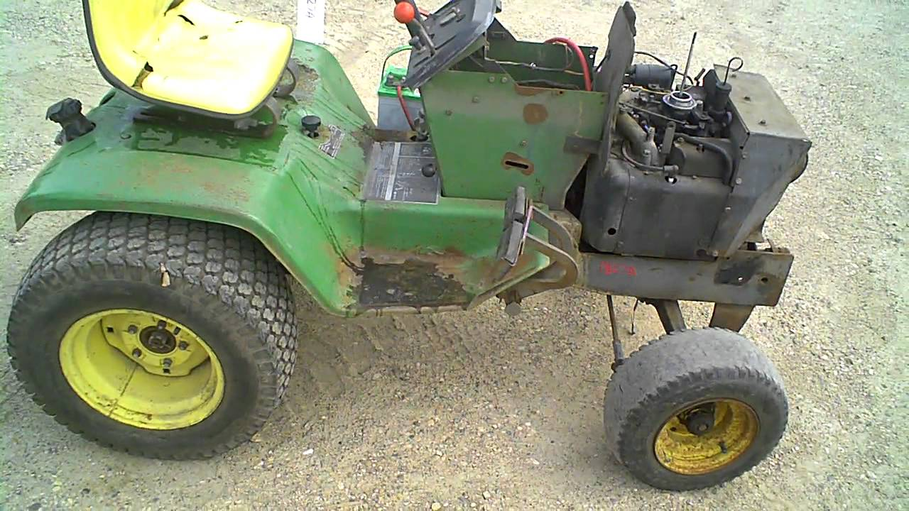 Lot 1827a John Deere 317 Lawn Garden Tractor Tear Down Youtube