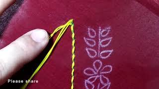 Hand Embroidery, Kurti neck design stitching tutorial,কামিজের গলার ডিজাইন,प्रिय परिषद डिजाइन