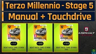 Asphalt 9 | Terzo Millennio Mega Event | Stage 5 - Manual + Touchdrive Routes