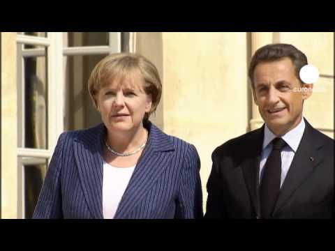 Merkel and Sarkozy meet in euro crisis summit