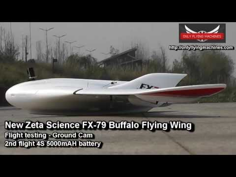 FX-79 Buffalo Long Range FPV Flying Wing Test Flight Ground Cam