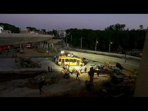Bridge collapse kills two in World Cup city Belo Horizonte