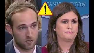 Sarah Sanders Shuts Down Troublemaking Reporter 10/5/17