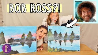 FOLLOWING A BOB ROSS PAINTING TUTORIAL 🎨 *Gone Wrong* | Bethany G