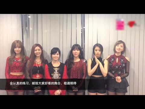 T-ara Greeting For 2014 Korean Music Wave In Beijing video