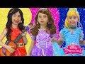 Disney Princess Dresses & Kids Makeup Sofia the First, Cinderella, Elena & Pretend Play with Dolls